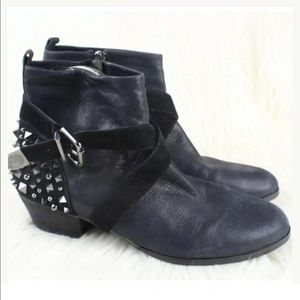 Vince Camuto Marcin Studded Ankle Booties Sz 6